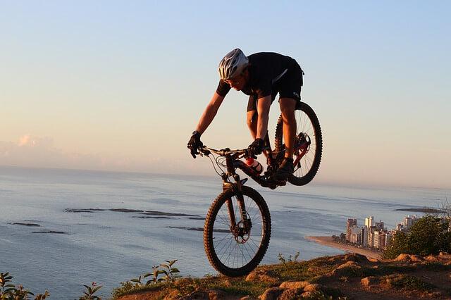 rower enduro - skok