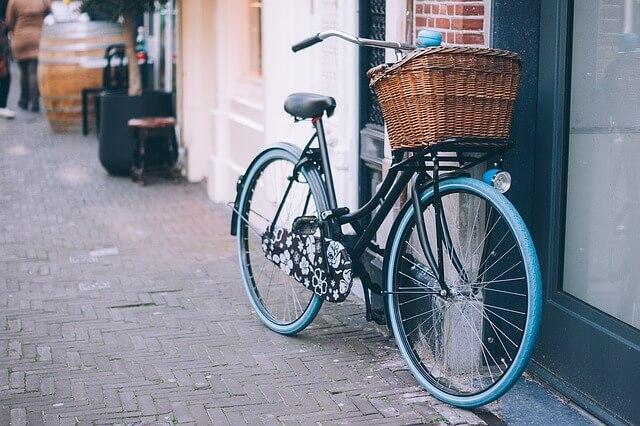 rower trekkingowy z koszykiem